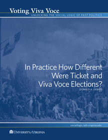 In Practice How Different Were Ticket and Viva Voce Elections?