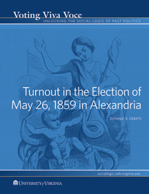 Turnout in the Election of May 26, 1859 in Alexandria